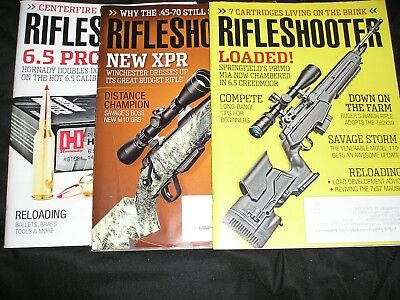 """LOT OF 3... """"RIFLE SHOOTER"""" MAGAZINES... 2017 & 2018... Great condition..."""