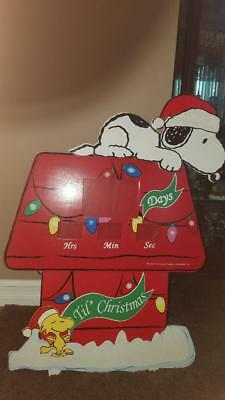 """36"""" Peanuts Snoopy and Woodstock Countdown to Christmas Yard Display"""