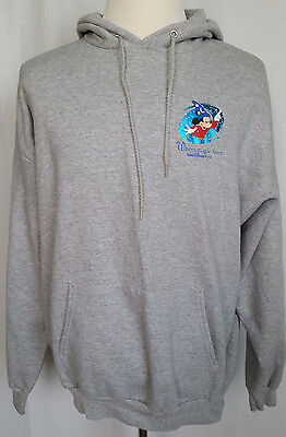 2c3cbc85 Disney Mickey Mouse Unisex Mens Womens Pullover Hoodie Sweatshirt Gray Size  XL