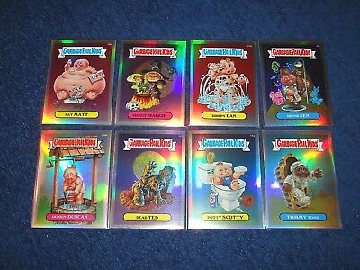 Gpk 2013 Topps Chrome Os1 Garbage Pail Kids Lot Of 8 Different Refractors (E6)