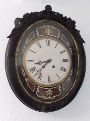french ebonised vinyard clock