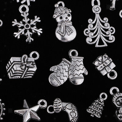 50 Pcs Christmas Series Charms Pendants Making DIY Jewelry Making Supplies