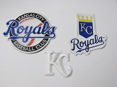 (1) Lot Of (3) Kansas City Royals Baseball Club Embroidered Patches Item # 45