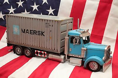 LKW MAERSK TRUCK tin toy tinplate car blechmodell auto voiture tole latta buriki