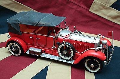 RED ROLLS ROYCE tin toy tinplate car blechmodell auto voiture tole buriki