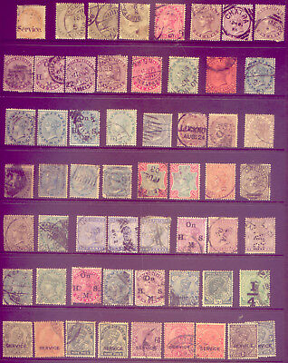 INDIA: A BEAUTIFUL  LOT of  VERY OLD   STAMPS  - VALUABLE NO  RESERVE