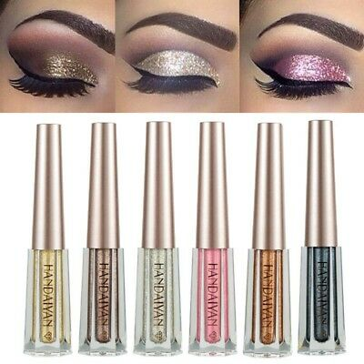 12 Colors Waterproof Shimmer Glitter Glow Eyeshadow Liquid Eyeliner Gel Makeup