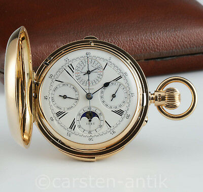 Henry Lewis & Co Grand Complikation Taschenuhr 1890 Min. repetition Ewiger Kal.