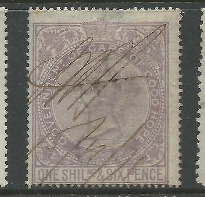 Cape of Good Hope Queen Victoria Revenue Stamp Duty 1s 6d Used