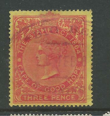 Cape of Good Hope Queen Victoria Revenue Stamp Duty 3d Used