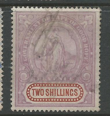 Cape of Good Hope Hope Standing Revenue Stamp Duty 2s Used  Ref A1