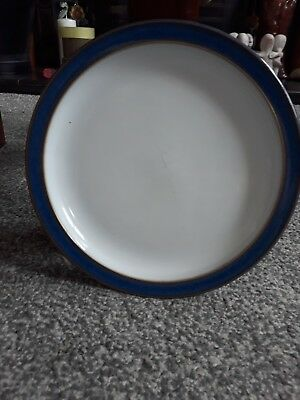 DENBY IMPERIAL BLUE, one small side plate, 17cm, used, has some scratches.