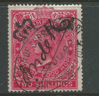 Cape of Good Hope Queen Victoria Revenue Stamp Duty 2s Red Used