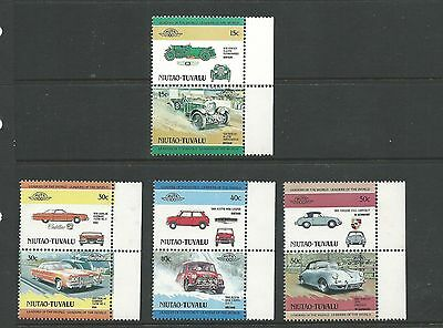 1984 Niutao-Tuvalu Cars set 8  Complete MUH/MNH as purchased from Post Office So