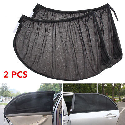 2PCS Car Sun Shade Cover Stretch Mesh for Auto Rear Window Block UV Protection