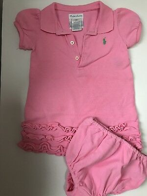 Baby Girls Pink Ralph Lauren Dress Size 6 Months