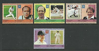 1985 Tuvalu - Nukulaelae Cricket Players 8 Complete MUH/MNH as purchased from PO