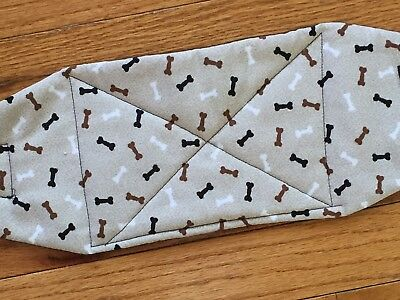 Male Dog Diaper-belly band-QUILTED-Washable- BONES ON LIGHT BROWN by angelpuppi