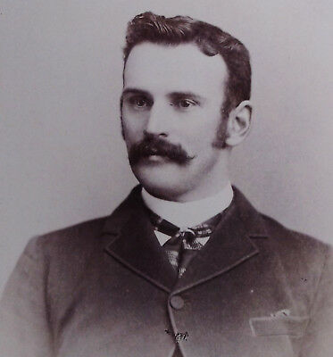 Cabinet Photo Of A Handsome Dapper Young Man With A Nice Mustache Toronto Canada