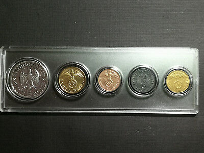 WWII German Coin Collection Set - Rare Antique Historical
