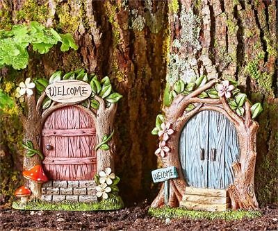 Miniature Dollhouse Fairy Garden Welcome Door - Your Choice - Buy 3 Save $5