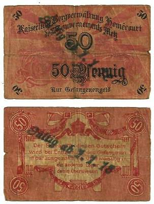 France ( P G - HOMECOURT ) 50 Pfennig - (1/1/1918) - Pirot PG 461 TB