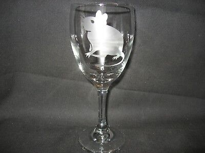New Etched Degu Wine Glass