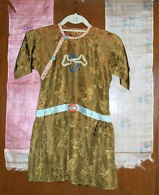 Vintage Authentic Japanese Kemona Dress and 2 Sashes