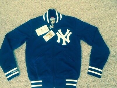 233b6e630 New York Yankees Medium Mitchell And Ness Authentic BP Throwback Jacket Navy