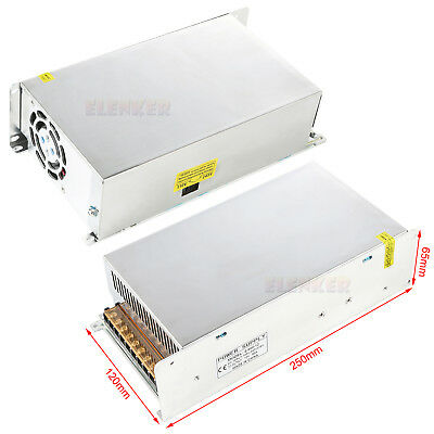 Regulated Switching 12V DC 50A 600W Converter Adapter Power Supply for LED Strip