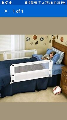New Regalo Hide Away Double Sided Bed Rail Safety Guard Toodler Sleep Comfort