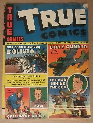 """True Comics #31 (Jan 1944) GD/VG 3.0...Red Grange """"the Galloping Ghost"""" story"""