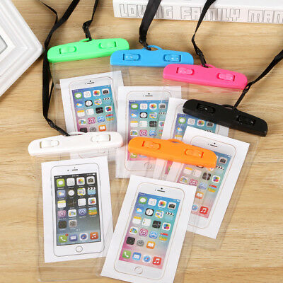 Universal Cell Phone Waterproof Neck Strap Dry Under Water Case Bag Holder Pouch