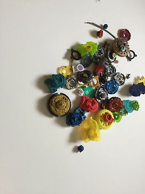 Lot Of Beyblade Rip Cords Launchers Metal Spinners & Accessories