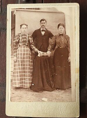 Possible Mormon Sister Wives - Polygamist - Western Pioneer - Cabinet Card Photo