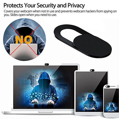 Webcam Cover Web Camera Privacy Blocker Computer Phone Ultra-Thin Black