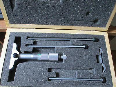 """Pro check depth micrometer-used-model 4602-4015 0-4"""" with .001"""" graduations"""