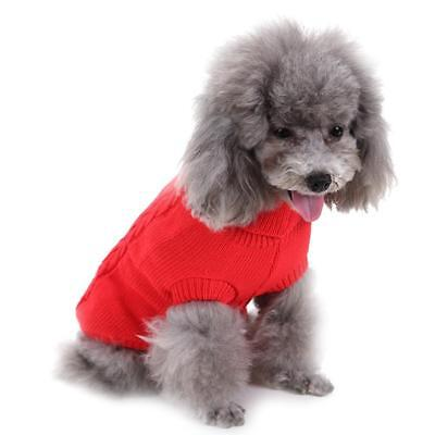Pet Dog Warm Clothes Coat Apparel Jumper Sweater Puppy Cat Knit_Costume