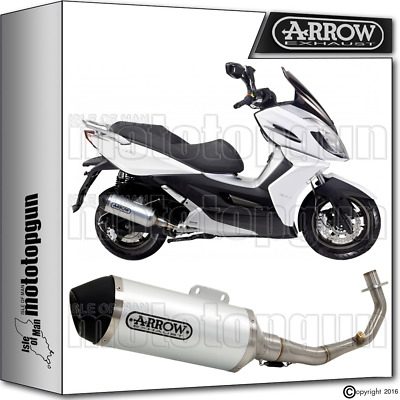 Arrow Hom Full Exhaust Slip-On Urban Alu Ec Black Kymco K-Xct 125 2012 12