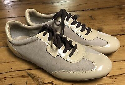 Cole Haan Nike Air Womens Sneakers Tan Suede Latent Leather Size 9B