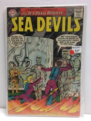 SEA DEVILS #19 (VG) Creatures from the Sub-World - 1964 DC Comics