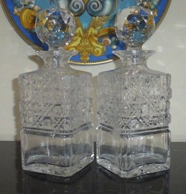 Antique Pair Of Baccarat Crystal Liquor Decanters