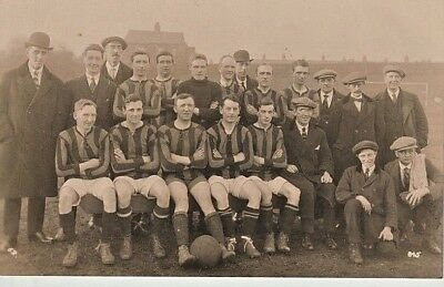 SOUTHPORT FC - strip 1920-1930s - view of team and others, houses at back