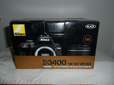 Nikon D3400 Digital SLR Camera w/ AF-P DX 18-55mm Lens Kit - *NEW*