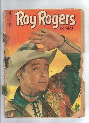 ROY ROGERS No 48 with Photo  Cover and Pin-Up Back Cover.