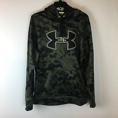 Under Armour Storm Athletic Hoodie Sweatshirt Mens Medium Loose Polyester Camo