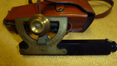 Vintage Dietzge Inclinometer Hand Survey Level , Dietzgen Abney Style, with Case