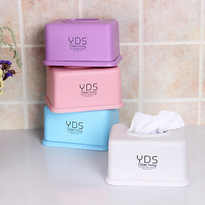ITS- Concise Solid Color Tissue Box Paper Storage Case Container Hotel Home Deco