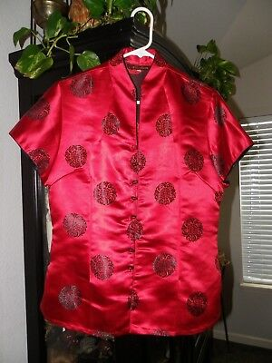 Mulin Silk Chinese Jacket Beautiful Red Purchased Silk Factory China Fits W L