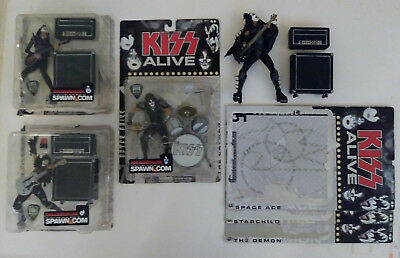 4 - KISS mcfarlane ALIVE series LOOSE action figures read L@@K nice 2000